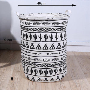 Folding Laundry Storage Basket Cartoon Print Laundry Organizer
