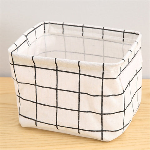 Image of Foldable Storage Basket Toy Container Fabric Home Desktop Storage Basket