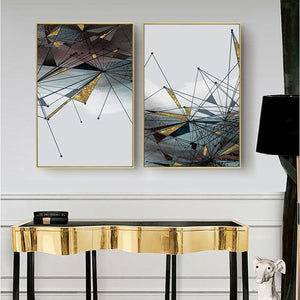 Canvas Painting Modern Abstract Geometric Picture Wall Art