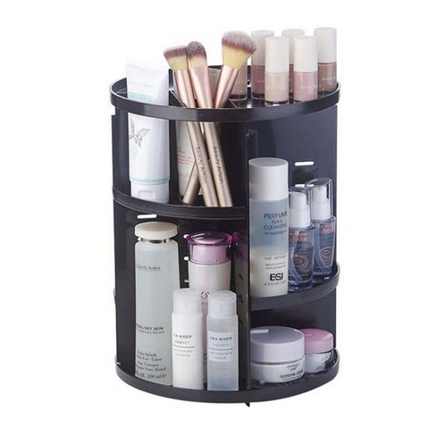 Image of 360-degree Rotating Makeup Organizer Brush Holder Jewelry Makeup Cosmetic Storage