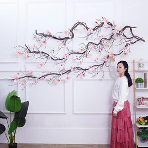 Magnolia Decorations Flowers Wall Ivy Vine Wreath Artificial Flowers Wall Flowers Garlands