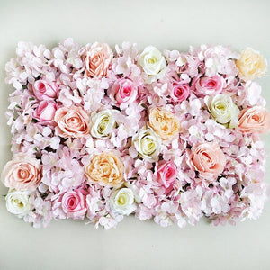Silk Rose Flower Champagne Artificial Flower Flower Wall Panels Wedding Backdrop Decor