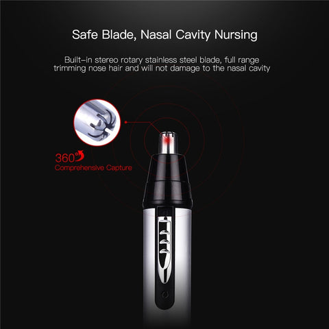 3 in1 Electric Ear Nose Trimmer for Men's Shaver Rechargeable Hair Removal