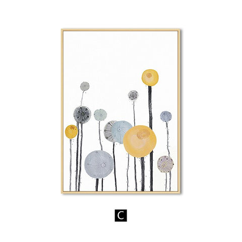 Image of Wall Art Modern Abstract Flowers Home Decoration Canvas Painting
