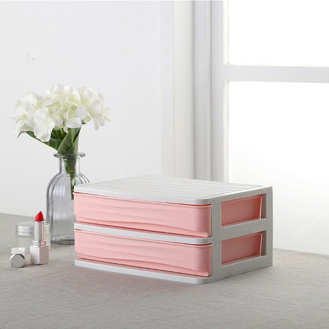 Image of Plastic Cosmetic Drawer Makeup Organizer Makeup Storage Box Container