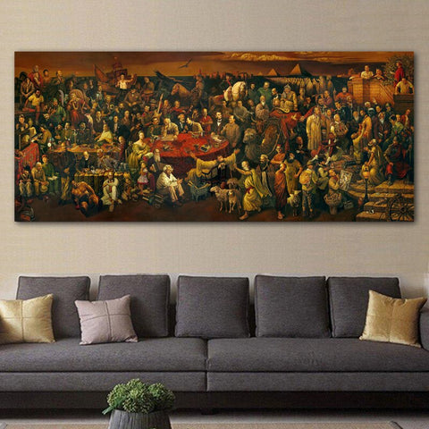 Artwork Canvas Painting Discussing Divine With Dante Wall Art Pictures Print Posters
