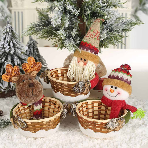 Merry Christmas Candy Storage Basket Candy Container