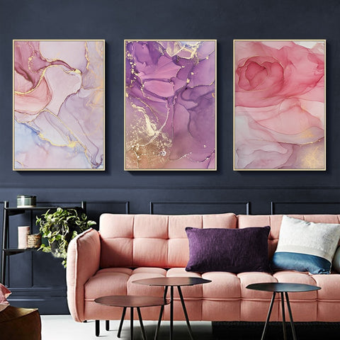 Image of Modern Abstract Canvas Painting Wall Art