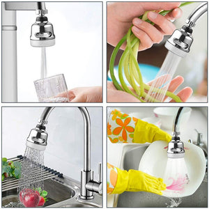 Rotatable Faucet Sprayer Head Anti Splash Tap Booster Shower Water Saving Water-saving Devices