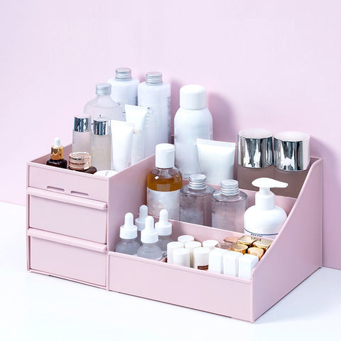 Image of Large Capacity Cosmetic Storage Box Makeup Drawer Organizer
