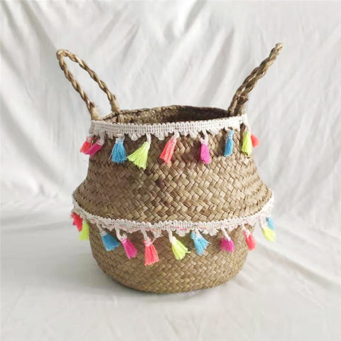 Image of Wicker Basket Seagrass Woven Storage Basket