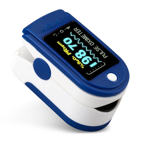 Finger Pulse Fingertip Oled Oximeter SPO2 PR PI RR Blood Oxygen Respiratory Rate Dedo with case