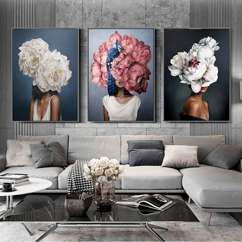 Image of Home Decor Modern Abstract Canvas Poster Wall Art Wall Painting