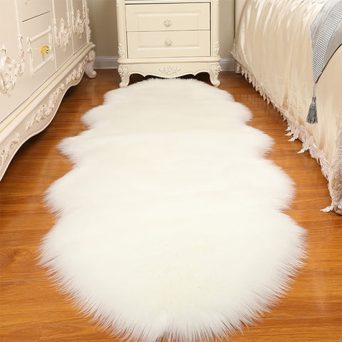 Warm Carpets Floor Mat Pad Skin Fur Rugs Soft Faux Sheepskin Carpet