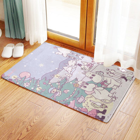 Image of Bath Mats Carpet Bathroom Rugs Slicky Double Floor Mat