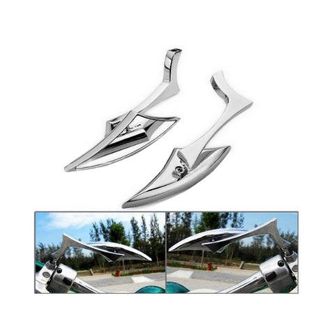 Image of Triangle Shape Rearview Mirror Lightning Motorcycle Parts Plating Side Mirror
