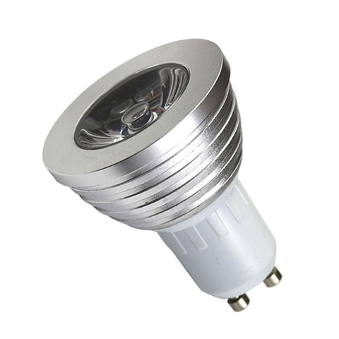 Image of Gu10 Color Changing Spotlight LED RGB Bulb Lamp Bulb Remote Light With 24 Key Controller