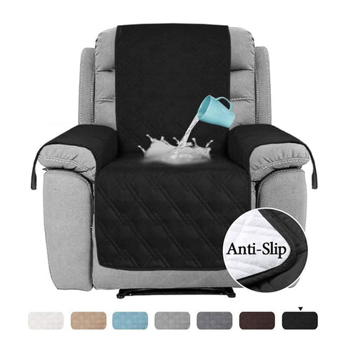 Image of Waterproof Furniture Protectors Chair Covers Leather Non-Slip Recliner Slipcover