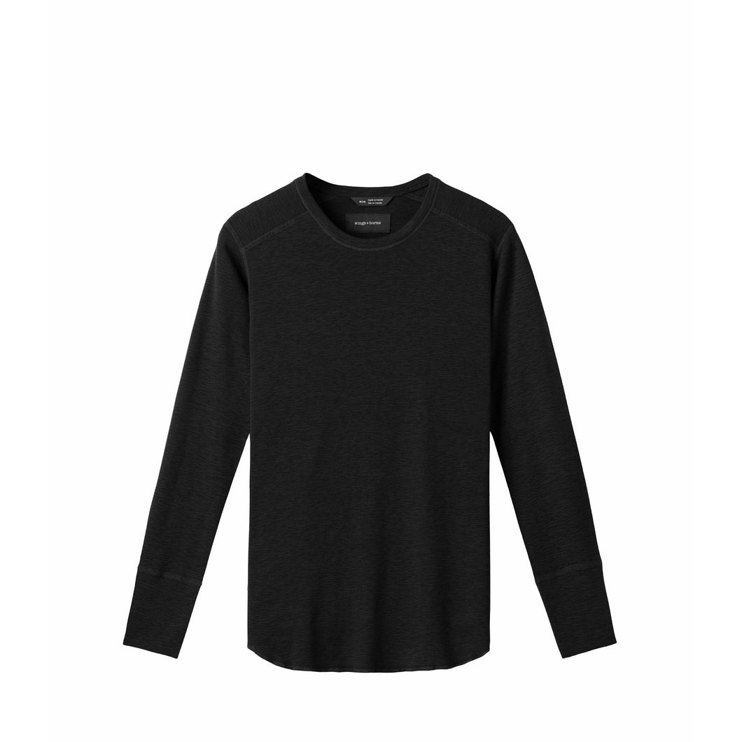 WINGS+HORNS 1x1 slub long sleeve