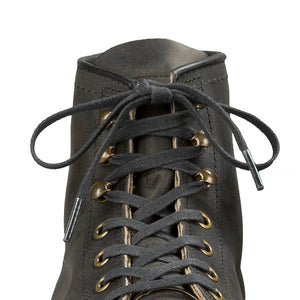 RED WING 48-inch black flat waxed boot laces