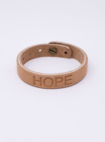 HOPE FOR HER LEATHER BRACELET - HAITI