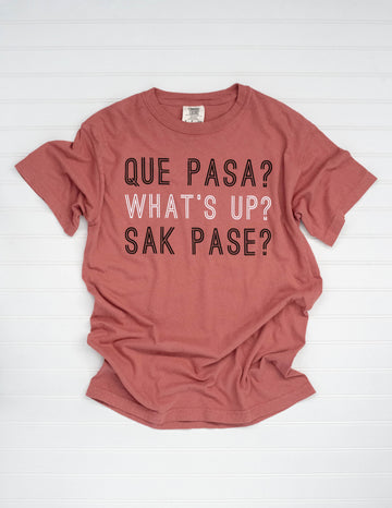 WHAT'S UP THREE LANGUAGES TEE