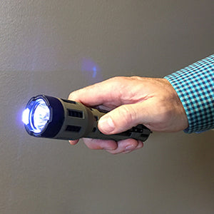 Military Sabre tactical stun gun LED flashlight combo