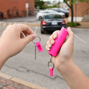 Pink campus pepper gel with quick release keyring