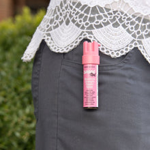 Load image into Gallery viewer, Pink compact pepper spray with clip