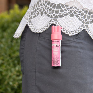Pink compact pepper spray with clip
