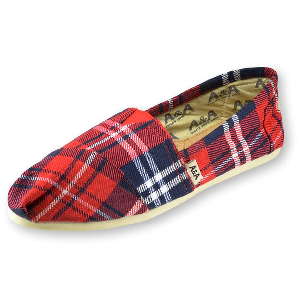 Flannel Canvas Slip On Shoes for Women