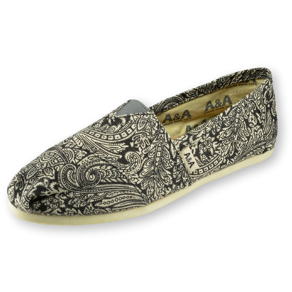 Black Henna: Slip On Shoes Canvas For Women - Black Henna T A&As