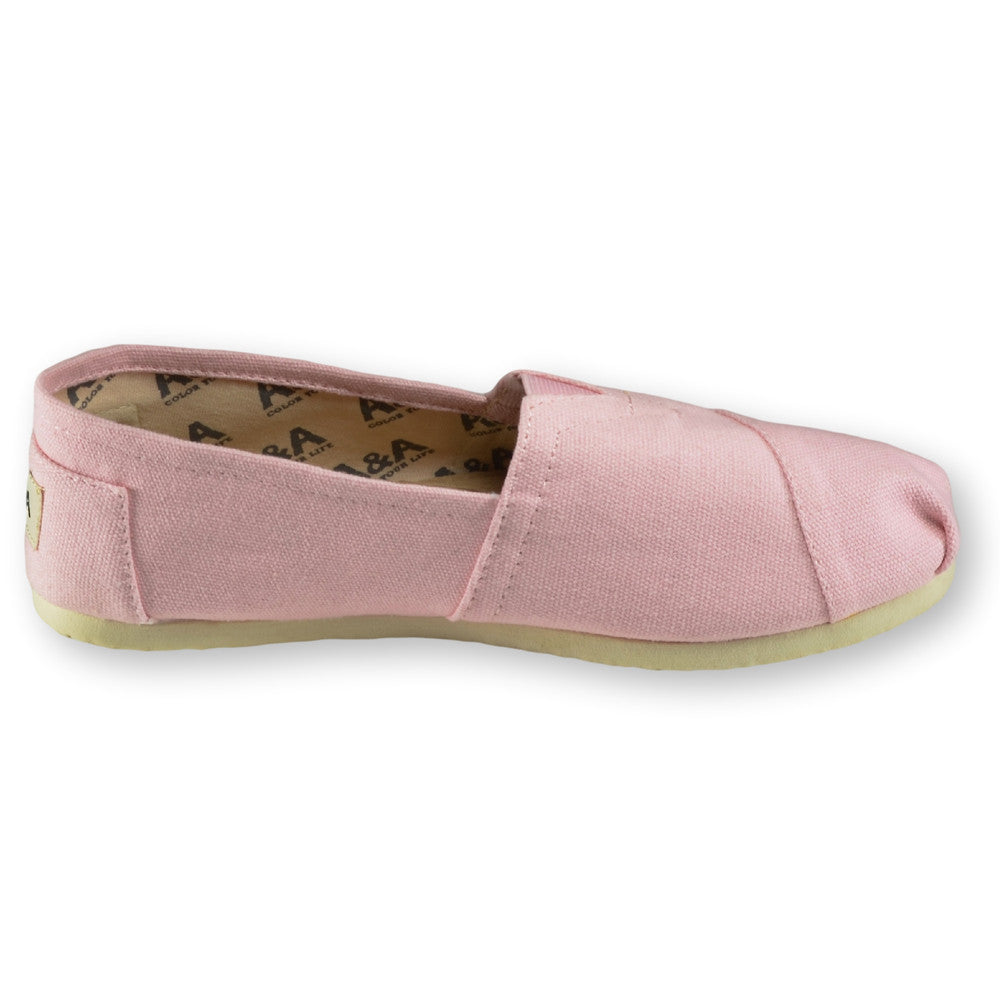 Pink Slip On Canvas Shoes for Women, A