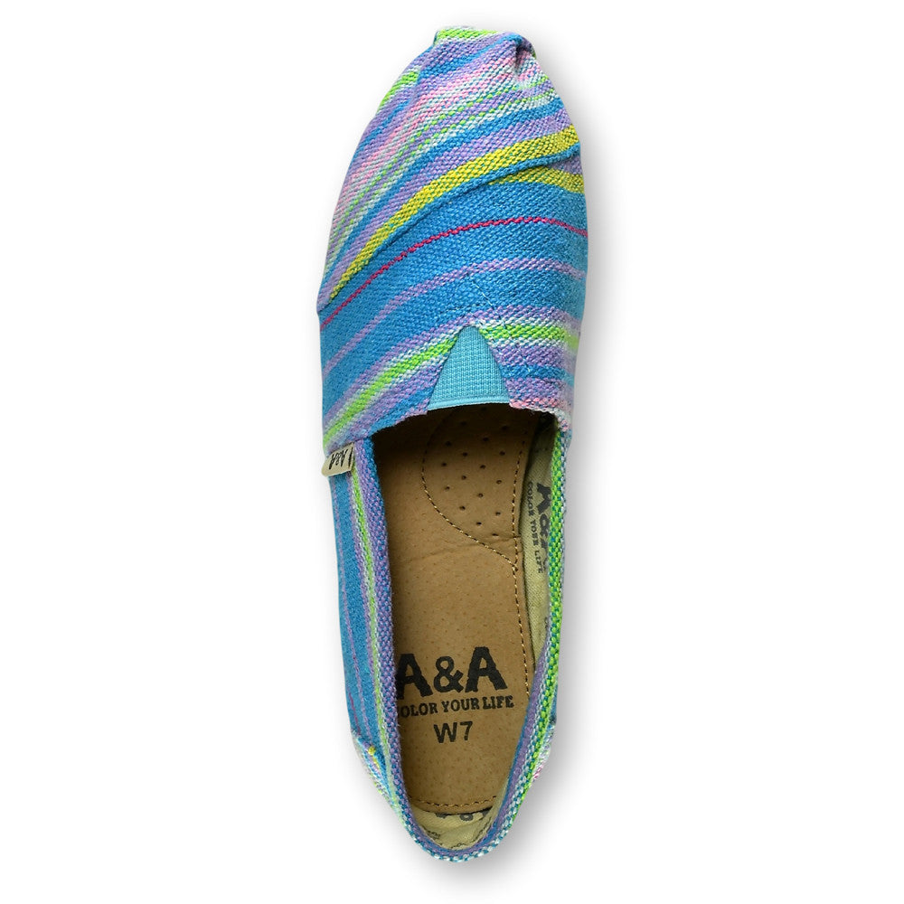 Indie Turquoise Canvas Slip On Shoes