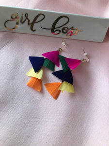"""Color Pop"" Feather Earrings"