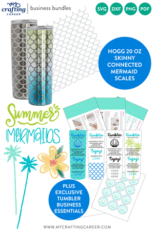 Hogg 20 oz Skinny Tumbler Mermaid Scales Business Bundle