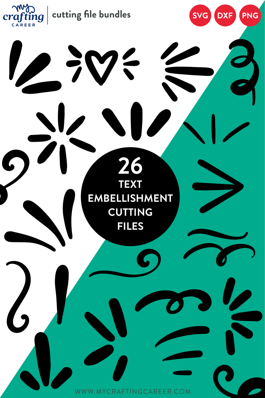 Text Embellishments Cutting Files Bundle