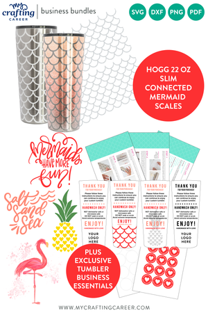 Hogg 22 oz Slim Tumbler Mermaid Scales Business Bundle