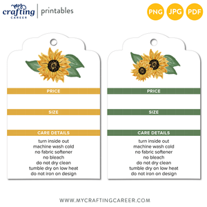 T-Shirt Seller's Sunflower Care and Price Tags