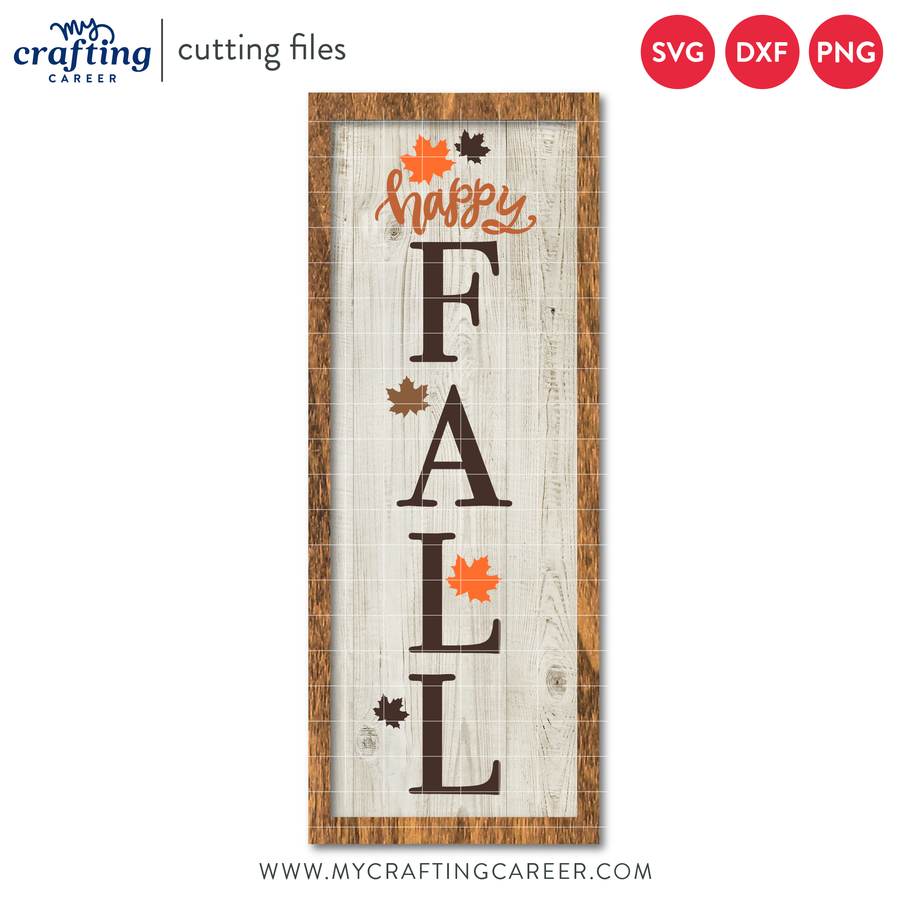 Happy Fall Porch Sign Cutting File
