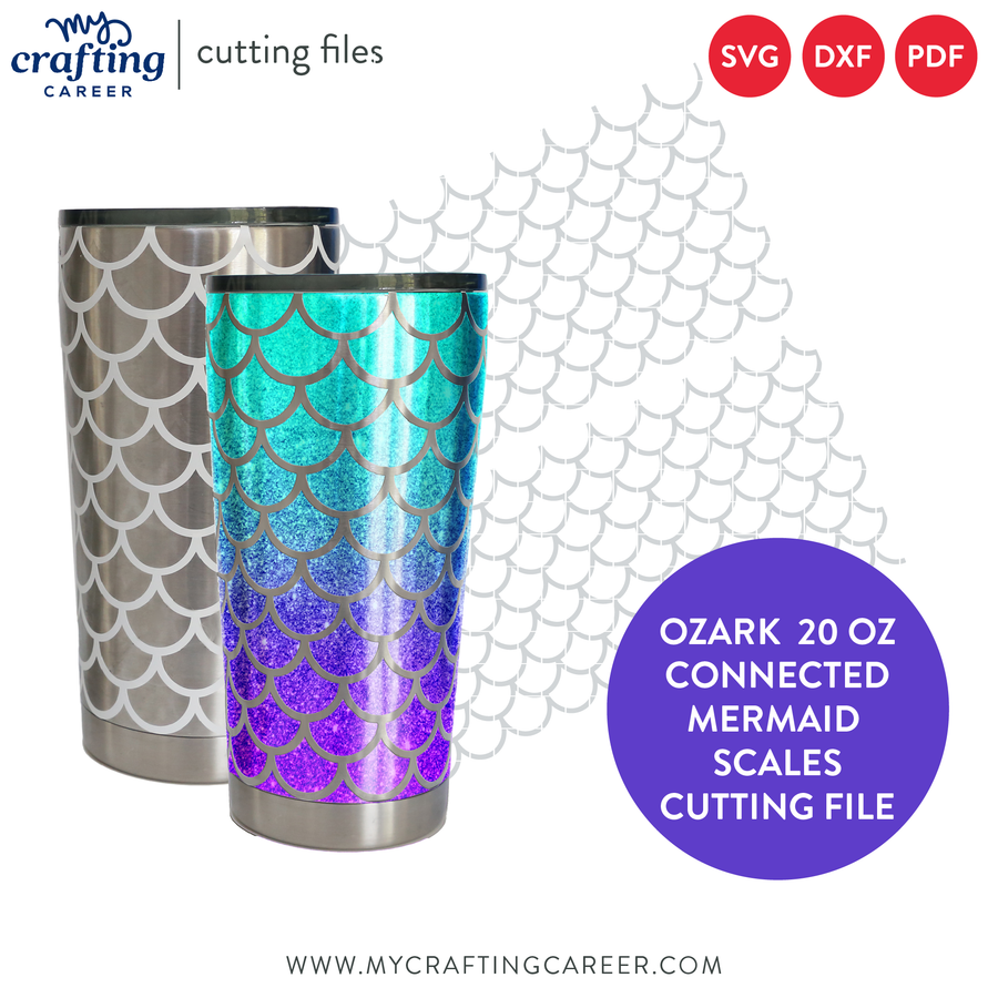 Ozark 20 oz Tumbler Mermaid Scales SVG Cutting File