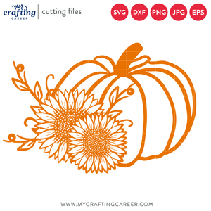 Sunflower Pumpkin Cutting File
