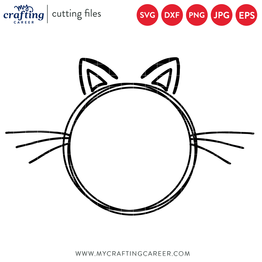 Cat Wire Frame SVG File