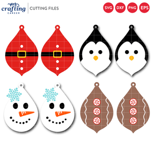 Christmas Earrings SVG Bundle