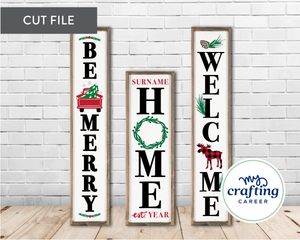 Christmas Porch Sign SVG Bundle 4