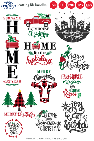 Christmas Sign Making SVG Bundle