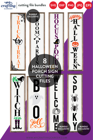 Halloween Double Value Bundle - Earrings, Porch Signs, & Bonus Earring Cards