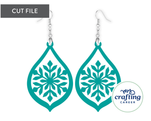 Snowflake Earrings SVG