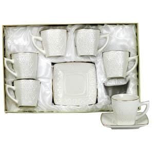Golden Star Coffee Cups Set Of 6