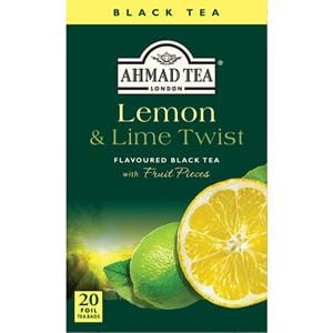 Ahmad Lemon & Lime Twist Black Tea 20 Tea Bags